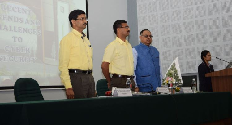 "Shri Sandeep Mittal, IPS, Deputy Inspector General of Police delivered lecture and participated in the Seminar on ""Recent Trends and Challenges to Cyber Security""  organised by Raksha Shakti University held on 26th April, 2016 at Ahmedabad ."