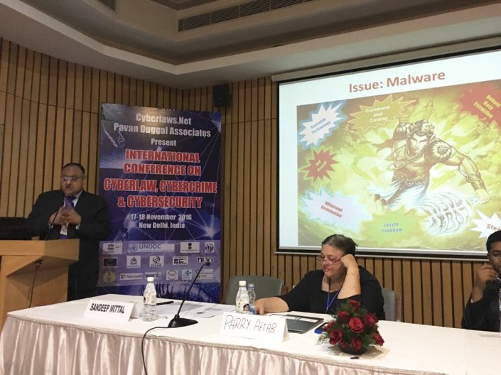 Sh. Sandeep Mittal, IPS, Director, NICFS speaking at International Conference on Cyber Law & Cyber Crime.