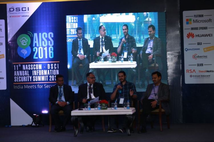 """Sh. Sandeep Mittal IPS Director, NICFS  Chaired the Panel Discussion on """"Malware Economics and underground market..... Evolving nature of cyber attacks"""" at the """"11th Annual Information Security Summit 2016"""""""