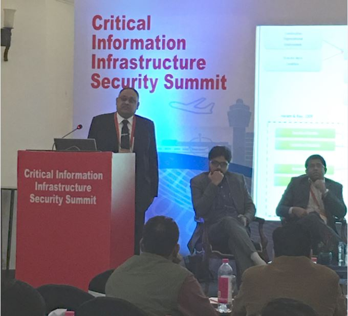 """Sh. Sandeep Mittal IPS Director, NICFS Shri Sandeep Mittal, IPS delivering lecture during the """"Cybersecurity in Critical Infrastructure Sector and Its Challenges"""" at the """"Critical Information Infrastructure Security Summit"""" on 8th December, 2016, at Taj Vivanta, New Delhi"""