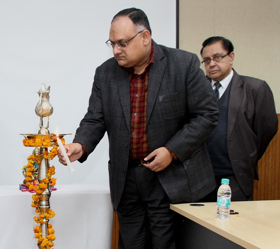 Sh. Sandeep Mittal, IPS, Director NICFS lighting lamp on the occasion of Basant Panchmi