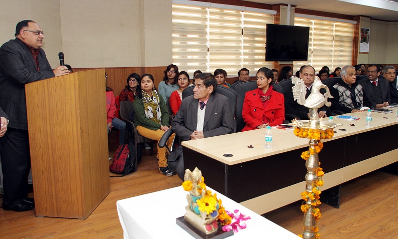 Sh. Sandeep Mittal, IPS, Director NICFS addressing to faculty/students on the Basant Panchmi
